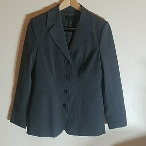 Gray The Limited Stretch Suit. Blazer & Skirt